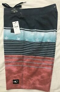 """NWT O'Neill Mens Board Surf Shorts Swimsuit 32 MSRP $54 20"""" Length Heist"""
