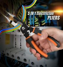 8 Inches 5 in 1 Pliers Multifunctional Electrician Needle Nose Crimping Pliers