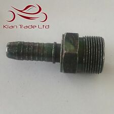 """M26 x 1.5 for 12mm(1/2"""") Barb Tail - MALE STRAIGHT HYDRAULIC NIPPLE PIPE FITTING"""