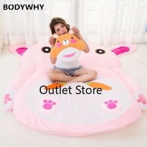 Cute Cartoon Rabbit Bedroom Folding Bed Mattress Tatami Matress Double Beanbag