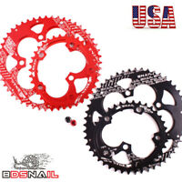 SNAIL 110BCD 50/35T Double Oval Chainwheel Road Folding Bike Crankset Sprocket