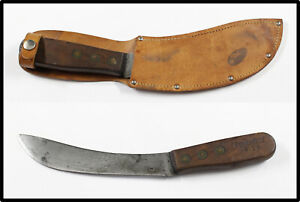 Vintage REMINGTON 4126 hunting skinner knife with leather sheath LOOK NICE OLD