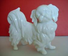 Vintage PEKINESE PORZELLAN HUND ° AUGARTEN WIEN ° PEKINGESE DOG figurine rare