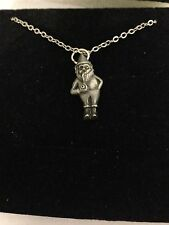 Gnome R88 English Pewter on a Silver Platinum Plated Necklace 18""