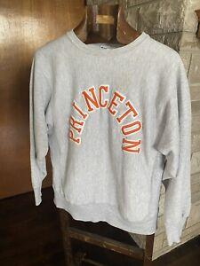 VTG 80s MADE IN USA Princeton Tigers Champion Reverse Weave Sweatshirt Ivy