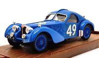 Brumm 1/43 Scale R87 - 1934-36 Bugatti 57S Coupe Race Car - Blue #49