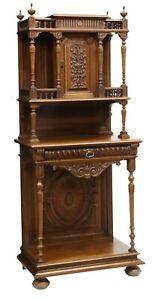 Antique Sideboard French Henri II Style Carved Walnut Server, 1800's, Handsome!