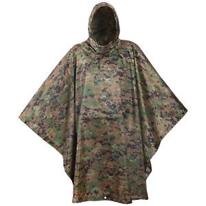 USGI Industries Military Style Multi Use Rip Stop (Marpat, Rain Poncho)