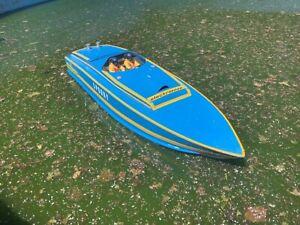 "Vintage Speed power boat ""Spooky""  radio control boat built"