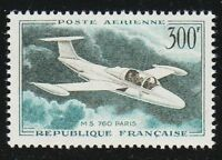 France 1959 MNH Mi 1231 Sc C34 Morane Saulnier 760 Paris,plane ** Aviation **