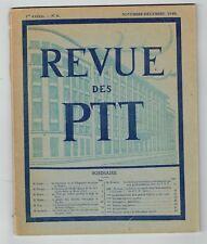 Revue des PTT N°4 - 1 ère Année - Novembre Décembre 1946