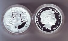 2001 Silver $5 Proof Coin Federation Reid Forrest Quick ex Masterpieces in Set