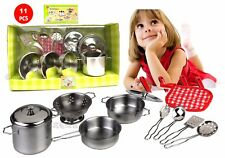 pans TOY FOR BAMBINE STEEL 11 PIECES CROCKERY pans game