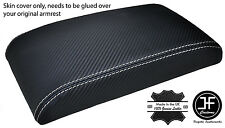WHITE STITCH FOR SUBARU IMPREZA WRX STI 98-03 ARMREST COVER CARBON FIBER VINYL