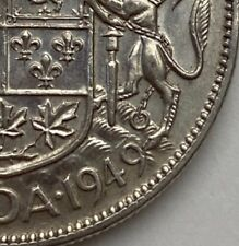 CANADA 1949 WIDE DATE 50 CENTS KING GEORGE VI  .800 SILVER  C4