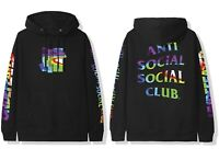 DS Anti Social Social Club ASSC x Undefeated Hot In Here Black Hoodie in hand