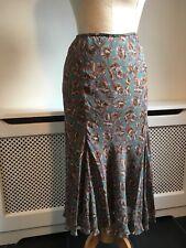 KEW (Jigsaw) Fern Green Floral Floaty Summer Skirt UK 8