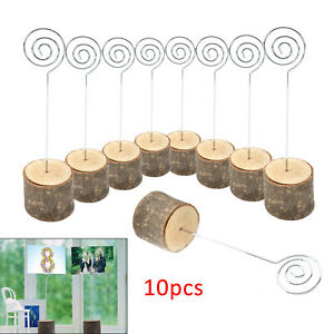 10 PCS Wedding Banquet Party Table Number Stand Place Name Card Holder Decor