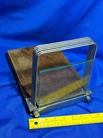 Mid Century Industrial Lipshaw Cork-Board Glass Slide Rack VTG SLICING GUIDE