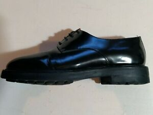 WHISTLES Ladies Black Patent Leather Brogues EU 40 UK 6.5 Superb Cond
