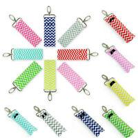 Women Wave Fashion Key Chain Lip Balm Chapstick Lipstick Holder Wristlet Ring N