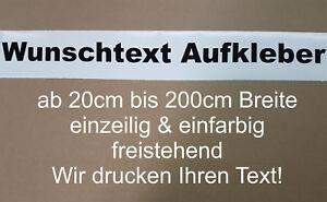 Wunschtext Aufkleber Auto Domain Beschriftung Schriftzug Cartatto von 20 - 200cm