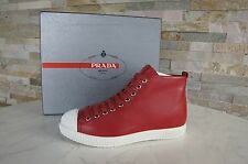 Prada Gr 37,5 High-Top Sneakers 3T5877 Schuhe shoes rot red NEU UVP 425 € €