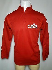Cleveland Cavaliers Medium Red Mens 1/4 Zip Mock Neck Golf Shirt Vtg USA Made