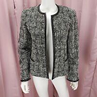 Jones New York Signature Women's Tweed Long Sleeve  Blazer Jacket Size 10