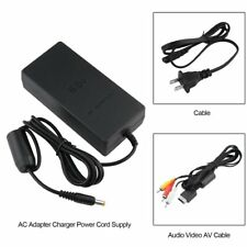 AC Adapter Charger Power Cord Supply with Audio Video AV Cable for Sony PS2 FV