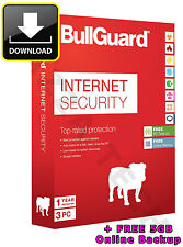 BULLGUARD INTERNET SECURITY 2016 / V16 3 PC USER 1 YEAR Activation Key 2017 V17