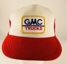 True Vintage GMC Trucks Red Trucker Hat Mesh SnapBack Cap