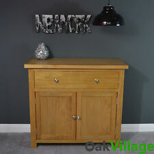 Oakley Oak Sideboard Small Mini  / Oak Cupboard / Solid Wood / Storage Dresser