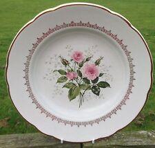 """Vintage français demi-porcelaine rose rose k & g luneville badonviller 9"""" soup bowl"""