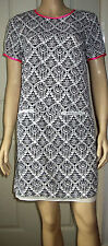 ATMOSPHERE Black White Geometric Pattern Short Sleeve Lined Dress Size 8