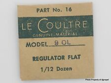 Jaeger LeCoultre Regulator Flat Cal. 490 90L Part #301 16