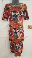 PUSSYCAT LONDON Size 8/10 Dress Bodycon Stretch Thin Knit VGC Women's Fitted