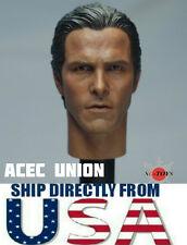 1/6 Batman Bruce Wayne Christian Bale Head Sculpt 2.0 For Hot Toys U.S.A. SELLER