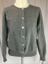 Go Cashmere Sweater Women's Small to Medium Grey Cardigan Blouson Long Sleeves