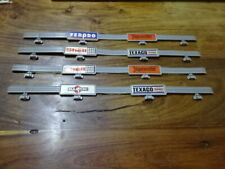 MATCHBOX POWERTRACK CRASH BARRIERS USED GREY WITH ADVERTS  X4 -