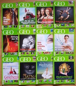GEO Zeitschrift 2009 komplett Welt mit anderen Augen Jahrgang Magazin Sammlung