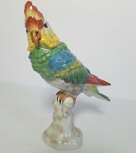 Preppy Paris Porcelain Chinoiserie Cockatiel Parrot Bird Paradise 7.5x6