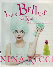 Publicité Advertising 1996  Parfum  Les Belles de RICCI NINA RICCI