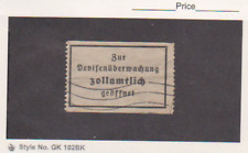 GERMANY CURRENCY EXCHANGE CONTROL LABEL Used