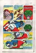 Achtzigerjahre Zeck Captain America 282 Seite 18 Original Marvel Comics Color Guide Kunst