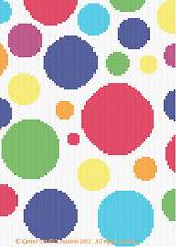 Crochet Patterns - POLKA DOTS Graph Pattern SCRAP YARN