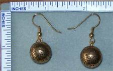 Goldtone round beads with gold plated earrings