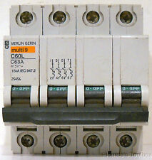 New Schneider Electric C60L Series 63A Miniature Circuit Breaker, 25456