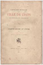 GUIGUE NIEPCE - CARTULAIRE MUNICIPAL VILLE DE LYON ETIENNE DE VILLENEUVE - 1877