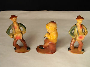 Marx Celluloid Figurines 2.5 to 3 inches tall Set of 3 (2049)
